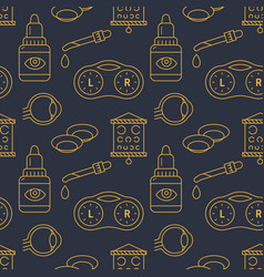 ophthalmology eyes health care seamless pattern vector image
