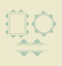 ornament decorative frame collection 02 vector image