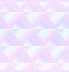 pastel triangle seamless pattern with hologram vector image