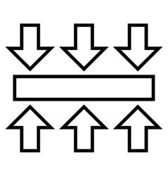 Pressure Vertical Thin Line Icon vector