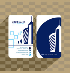 Real estate building business card template vector