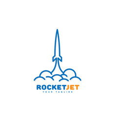 Rocket jet logo vector