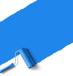 Roller brush blue vector