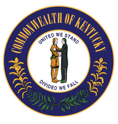 Seal kentucky vector