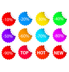 set of colorful business sale offer tags stock vector image