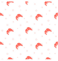 shrimp simple seamless pattern seafood background vector image