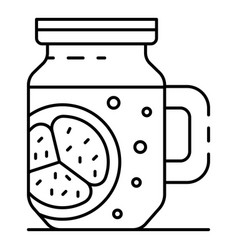 smoothie jar icon outline style vector image