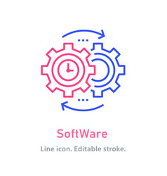 software line icon on white background editable vector image
