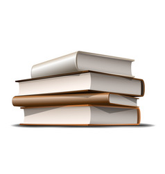stack beige and brown books books various vector image
