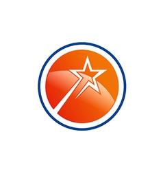 Star shine abstract round logo vector