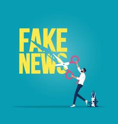 stop fake news vector image