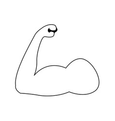 Strong power muscle arms biceps athletic vector