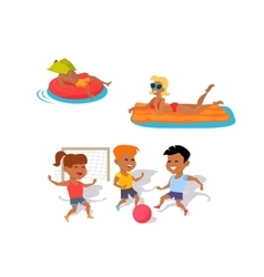 Summer Fun and Entertainments vector image