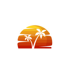 Summer holiday beach vacation vector
