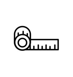 Tape measure architecture icon line style vector