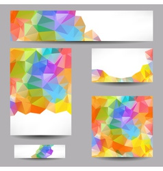 Templates with abstract geometrical triangles vector image