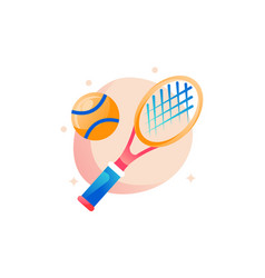 Tennis racket with tennisball vector