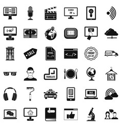 Web equipment icons set simple style vector
