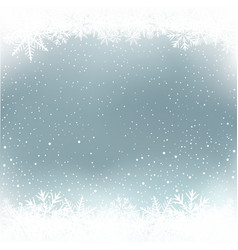 winter snow and sky background vector image