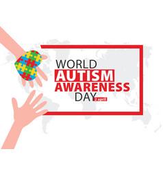 World autism awareness day banner vector
