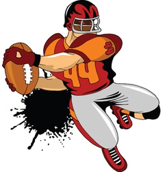 american football player vector image vector image