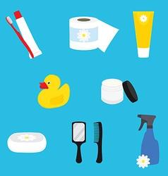 Bathroom items vector image