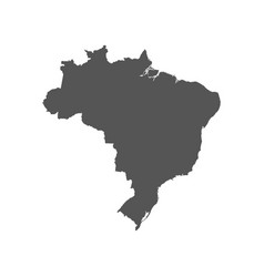 Brazil map black icon on white background vector