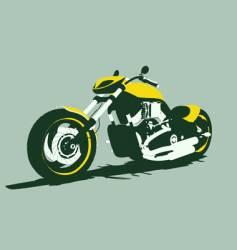 harleycustom bike front view vector image vector image