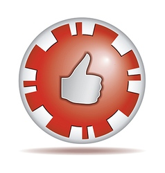 Like Round button vector image vector image