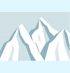 line mountain background vector image