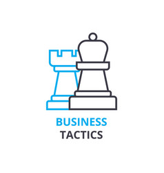 business tactics concept outline icon linear vector image vector image