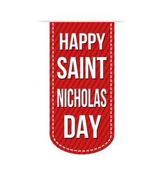 happy saint nicholas day banner design vector image vector image