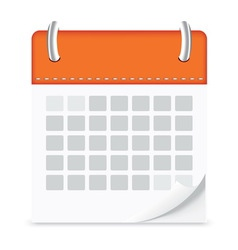 icon calendar isolated background vector image vector image