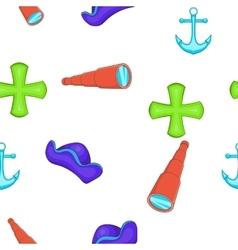 Sailing equipment pattern cartoon style vector