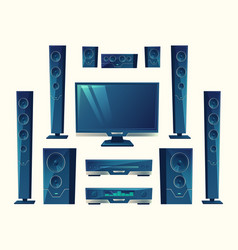 home theater acoustic equipment stereo vector image