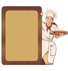 italian waitress vector image