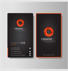 modern creative agency business card vector image