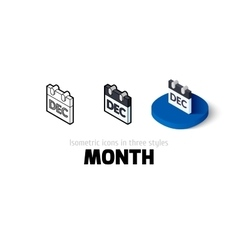 Month icon in different style vector image vector image
