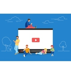Video concept of young people using vector