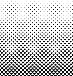 Abstract monochrome heart pattern background vector image vector image