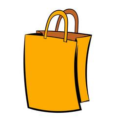 paper shopping bag icon icon cartoon vector image vector image