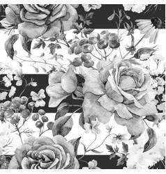 watercolor rose seamless pattern vector image