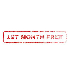 1st month free rubber stamp vector