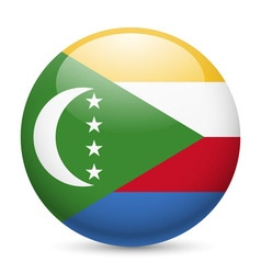 A badge in colours of the comoros flag vector
