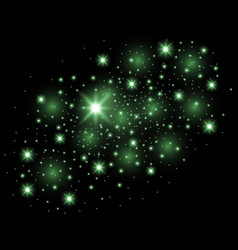 abstract galaxy green color vector image