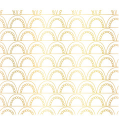 abstract seamless gold foil arches pattern vector image