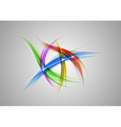 abstract shapes on grey rainbow vector image vector image