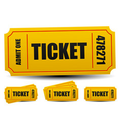 Admit one tickets 4 compositions editable vector