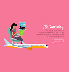 air travelling conceptual banner design vector image