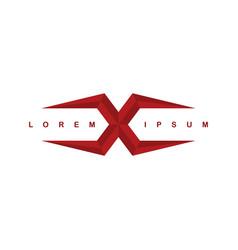 alphabet letter x logo logotype template vector image